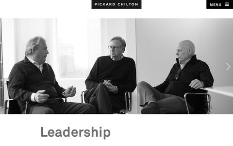 Screenshot of Team Page pickardchilton.com - Leadership | Pickard Chilton - captured July 18, 2018