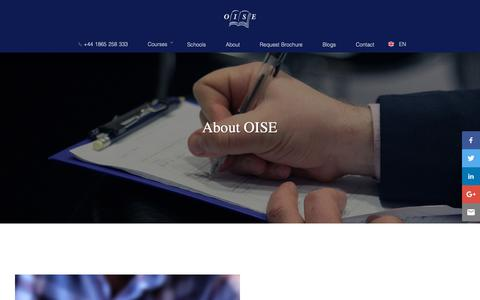 Screenshot of About Page oise.com - Why Choose OISE? | OISE - captured Oct. 14, 2018