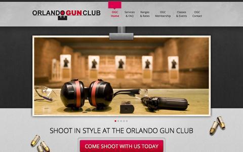 Screenshot of Home Page orlandogunclub.com - Orlando Gun Club | Live Fire Indoor Shooting Range | Gun Sales & Rentals | Central Florida - captured Oct. 9, 2014