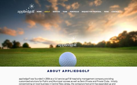 Screenshot of About Page appliedgolf.com - About appliedgolf - captured May 31, 2017