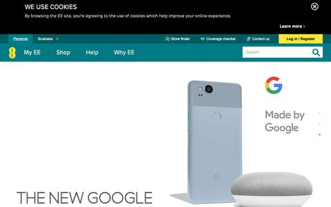 Screenshot of Home Page ee.co.uk - Superfast 4G Phones, Tablets, Fibre Broadband and more | EE - captured Oct. 19, 2017