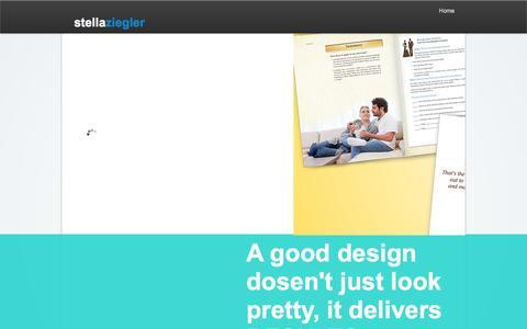 Screenshot of Home Page stellaziegler.com - Stella Ziegler Creative Design - captured Oct. 7, 2014