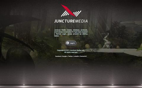 Screenshot of Home Page juncturemedia.com - Juncture Media - Creative IP Development - captured Aug. 6, 2015