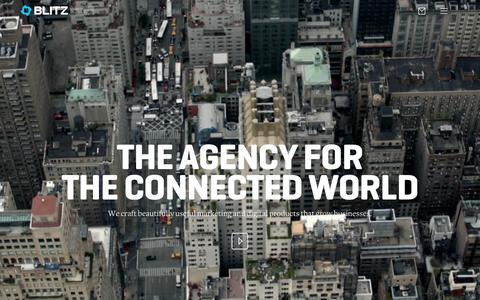 Screenshot of Home Page blitzagency.com - BLITZ - Full Service Digital Agency with Social Media Agency Capabilities - captured Oct. 7, 2015
