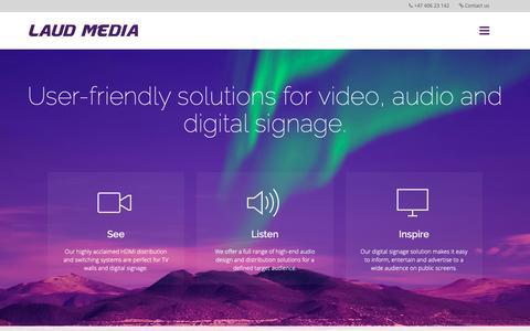 Screenshot of Home Page laud-media.com - Home - Laud Media - captured Sept. 27, 2018