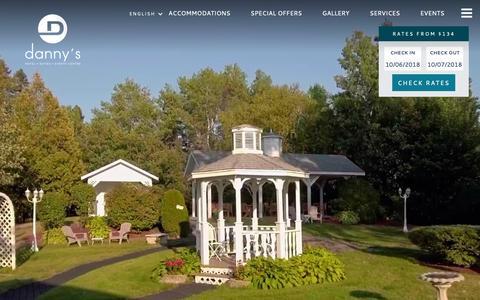 Screenshot of Home Page dannysinn.com - Danny's Inn - Hotels in New Brunswick Canada - captured Oct. 7, 2018