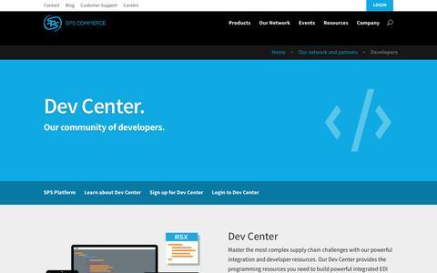 Screenshot of Developers Page spscommerce.com - Developers | SPS Commerce - captured Dec. 4, 2015
