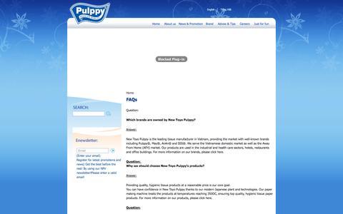 Screenshot of FAQ Page pulppy.com - FAQs | Pulppy - captured Oct. 26, 2014
