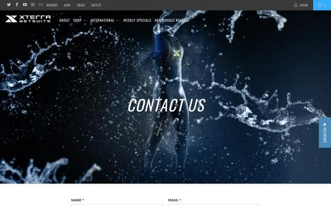 Screenshot of Contact Page xterrawetsuits.com - Contact Us - XTERRA WETSUITS - captured July 26, 2018