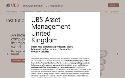 Screenshot of Team Page ubs.com - Institutional investors | Asset Management | UBS United Kingdom - captured Nov. 14, 2019
