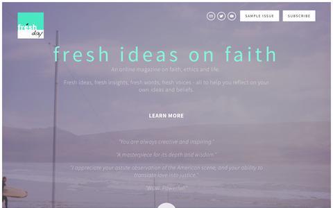Screenshot of Home Page freshday.org - Fresh Day - captured June 6, 2017
