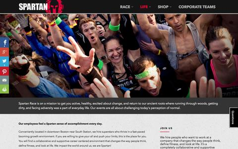 Screenshot of Jobs Page spartan.com - Careers at Spartan Race - Changing Lives - captured Oct. 28, 2014