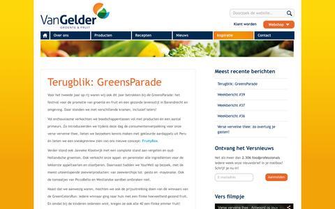Screenshot of Blog vangeldernederland.nl - Van Gelder groente & fruit |  Van Gelder groente & fruit | Inspiratie - captured Oct. 1, 2014
