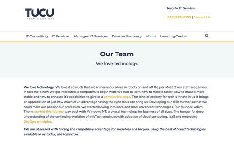 Screenshot of Team Page tucu.ca - Our Team – Friendly IT Support Experts • TUCU - captured Feb. 16, 2020