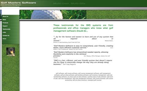 Screenshot of Testimonials Page golfmasterssoftware.com - Golf Masters Software   Golf Management Software   Golf Course Management   Golf Point of Sale   Pro Shop   Golf Course   Inventory   Membership   Tournament Software   Tee Times   Golf Handicaps   Food Service - captured July 10, 2018