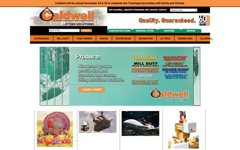 Screenshot of Home Page caldwellinc.com - The Caldwell Group — Caldwell Group Lifting Solutions - captured Nov. 28, 2016
