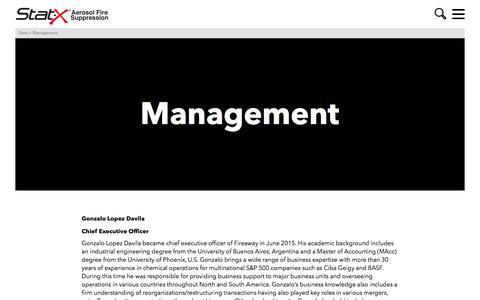 Screenshot of Team Page statx.com - Management | Statx - captured Oct. 25, 2017