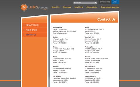 Screenshot of Contact Page cylalaw.com - CYLA - A Division of JuriSolutions - Contact Us - captured Oct. 27, 2014