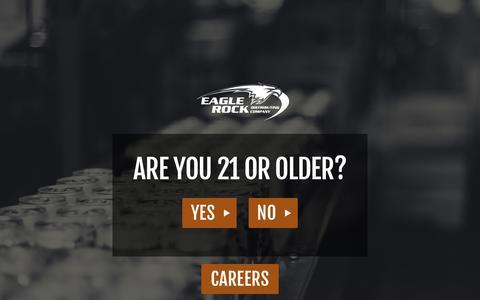 Screenshot of Terms Page eaglerocks.com - Eagle Rock Distributing Company > Home - captured Sept. 26, 2018