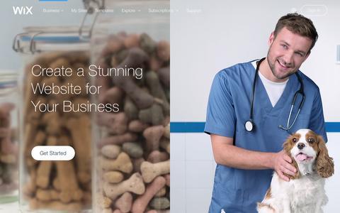 Screenshot of Services Page wix.com - Business Website Builder | Create Small business website | Wix.com - captured Dec. 18, 2015