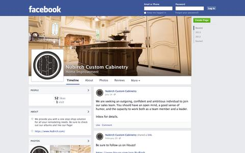 Screenshot of Facebook Page facebook.com - Nubirch Custom Cabinetry - West Hempstead, NY - Home Improvement | Facebook - captured Oct. 25, 2014