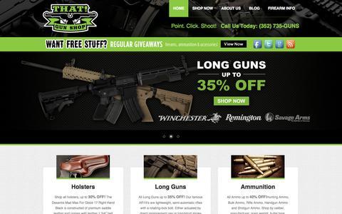 Screenshot of Home Page thatgunshop.net - Buy Guns For Sale - Discount Firearms - That Gun Shop - captured Sept. 19, 2014