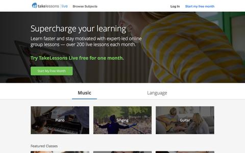 TakeLessons Live Online Classes ~ Learn Faster with Real Instructors