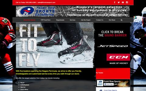Screenshot of Home Page frontrowsport.com - Front Row Sports Home - captured Feb. 10, 2016