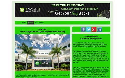 Screenshot of Press Page mybodywrapsglobal.com - It Works | News - captured Oct. 5, 2014