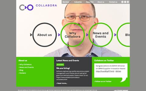 Screenshot of About Page collabora.com - About us - captured Nov. 2, 2014