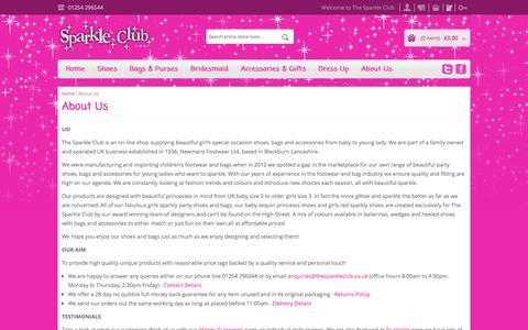 Screenshot of About Page thesparkleclub.co.uk - About Us - captured Oct. 27, 2014