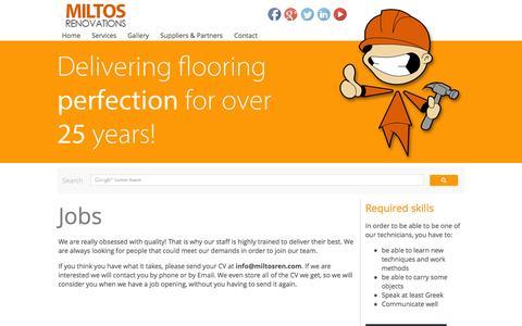 Screenshot of Jobs Page miltosren.com - Jobs   Miltos Renovation LTD - captured Oct. 7, 2014