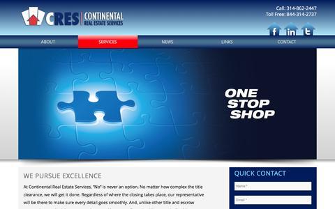 Screenshot of Services Page gocres.com - CRES |   Services - captured Jan. 31, 2016