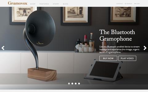 Screenshot of Home Page gramovox.com - Gramovox - Stream Nostalgia - captured Sept. 30, 2014