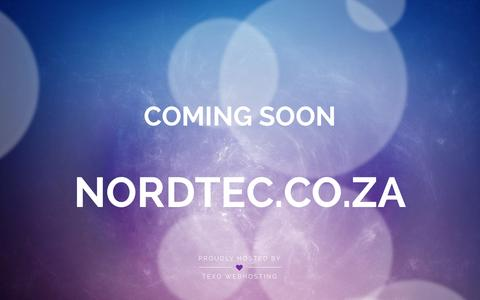 Screenshot of Home Page nordtec.co.za - Parked by Texo Webhosting - captured Jan. 22, 2016
