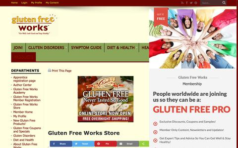 Screenshot of Products Page glutenfreeworks.com - Gluten Free Works Store | Gluten Free Works - captured Sept. 29, 2018