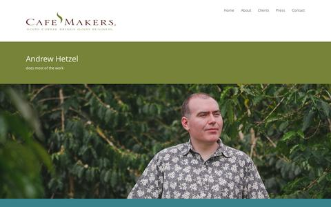 Screenshot of About Page cafemakers.com - About | CafeMakers - captured Nov. 1, 2014