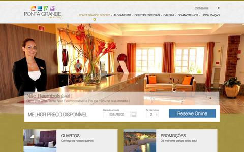 Screenshot of Home Page pontagrande.com - Ponta Grande Resort - Ponta Grande Resort Algarve|Albufeira|São Rafael| Portugal - captured Oct. 3, 2014