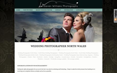 Screenshot of Home Page photographer-north-wales.com - | Wedding Photographer North Wales - captured Oct. 5, 2014
