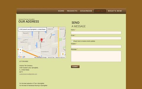 Screenshot of Privacy Page Contact Page ariztile.com - Arizona Tile Company in Springfield, Il : Contact - captured June 23, 2016