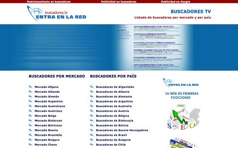 Screenshot of Home Page buscadores.tv - Buscadores TV - Listado de buscadores por mercados y país - captured Jan. 26, 2015