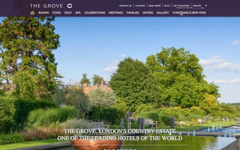 Screenshot of Home Page thegrove.co.uk - The Grove | Luxury Hotel, Spa & Golf Resort in Hertfordshire - captured Oct. 2, 2015