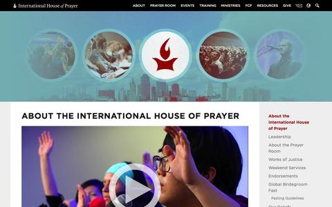 Screenshot of About Page ihopkc.org - About the International House of Prayer » About IHOPKC - captured Sept. 22, 2014