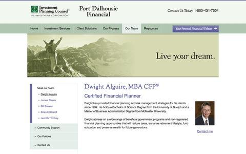 Screenshot of Team Page portdalhousiefinancial.com captured Nov. 2, 2014