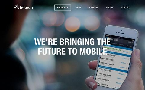 Screenshot of Products Page teltech.co - TelTech - Our Products - captured Oct. 7, 2014