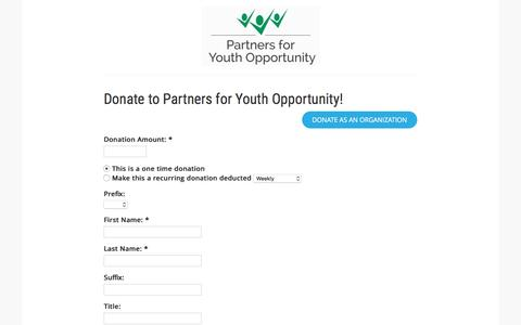 Screenshot of Support Page z2systems.com - Partners for Youth Opportunity - captured Jan. 27, 2017