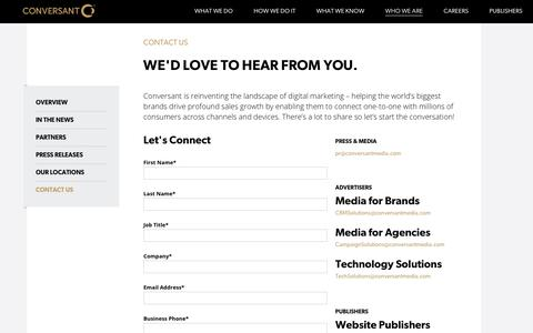 Contact Us | Programmatic Advertising | Conversant | Conversant