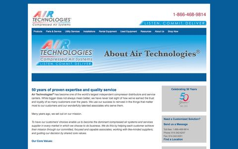 About Us - Air Compressors, Air Compressor Systems from Air Technologies | Columbus, Cleveland, Cincinnati, Canton, Toledo, Indianapolis, Fort Wayne, Detroit, Grand Rapids, Erie, Pittsburgh, Nitro, Louisville, Lexington