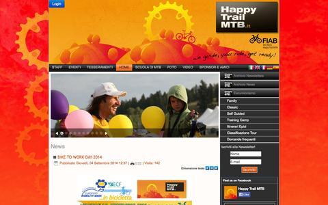 Screenshot of Home Page happytrailmtb.it - Happy Trail MTB - captured Sept. 29, 2014