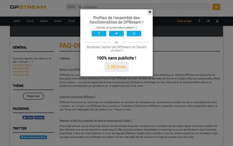 Screenshot of FAQ Page dpstream.net - faq-de-dpstream - captured June 20, 2017